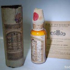Coleccionismo Otros Botellas y Bebidas: FRASCO DE FARMACIA SALES EFERVESCENTES LE PERDRIEL // SIN DESPRECINTAR AÑO 1910 UNA PIEZA DE MUSEO. Lote 90825070