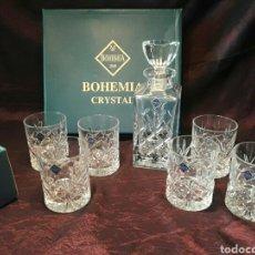 Coleccionismo Otros Botellas y Bebidas: JUEGO DE WHISKY CRISTAL BOHEMIA NO MURANO. Lote 91129232