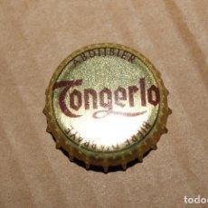 Coleccionismo Otros Botellas y Bebidas: CHAPA TAPON CORONA TONGERLO. ABIERTA SON DOBLAR.. Lote 91837287