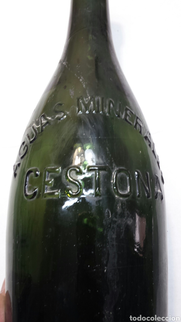 BOTELLA ANTIGUA AGUA MINERAL CESTONA (Coleccionismo - Otras Botellas y Bebidas )
