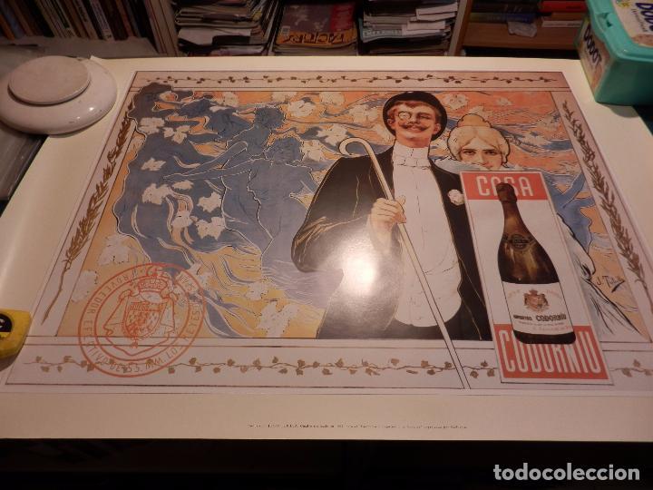 Coleccionismo Otros Botellas y Bebidas: CODORNIU - LOTE 3 POSTERS DE RAMÓN CASAS Y JULIO TUNILLA - 68 X 98 CM. (CAVA) - Foto 5 - 92812140