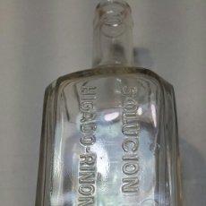 Coleccionismo Otros Botellas y Bebidas: BOTELLA ANTIGUA DE FARMACIA SOLUCION SCHOUM. Lote 93708765