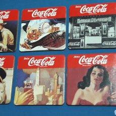 Coleccionismo Otros Botellas y Bebidas: 6 POSAVASOS COCACOLA. Lote 95565191