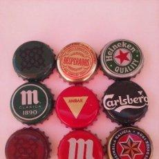Coleccionismo Otros Botellas y Bebidas: LOTE 9 CHAPAS BOTELLAS CERVEZA. Lote 95681755