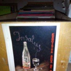 Coleccionismo Otros Botellas y Bebidas: PROSPECTO PUBLICITARIO AGUA INSALUS . Lote 96185655
