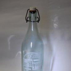 Coleccionismo Otros Botellas y Bebidas: BOTELLA DE GASEOSA LOS MOYANOS DE HONRUBIA CUENCA // MUY DIFÍCIL. Lote 96276107