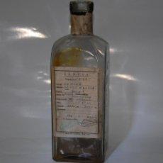 Coleccionismo Otros Botellas y Bebidas: FRASCO BOTELLA CAMPSA DE COMBUSTIBLE CON ANOTACIONES DE ALBACETE. Lote 96303867