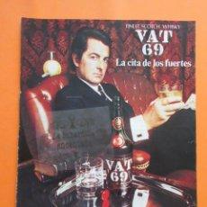 Coleccionismo Otros Botellas y Bebidas: PUBLICIDAD 1972 - COLECCION BEBIDAS - VAT 69 SCOTH WHISKY. Lote 97226903