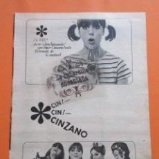 Coleccionismo Otros Botellas y Bebidas: PUBLICIDAD 1964 - COLECCION BEBIDAS - CINZANO. Lote 97227163