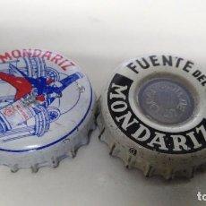 Coleccionismo Otros Botellas y Bebidas: LOTE DE 2 CHAPA TAPON CORONA DE MONDARIZ. Lote 97417079