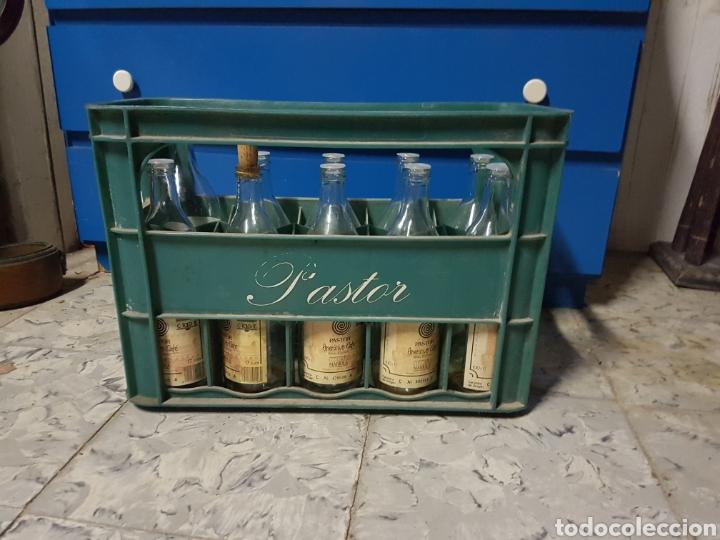 CAJA CON 8 BOTELLAS, CAFE LICOR UN COLPET, PASTOR (Coleccionismo - Otras Botellas y Bebidas )