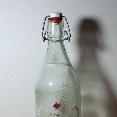Coleccionismo Otros Botellas y Bebidas: BOTELLA VACIA CRISTAL GASEOSA LA CASERA 1 LITRO SERIGRAFIADA. Lote 97911799