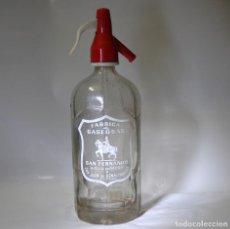 Coleccionismo Otros Botellas y Bebidas: SIFÓN SAN FERNANDO DE SAN JUAN DE AZNALFARACHE SEVILLA. Lote 99905059