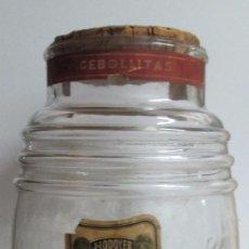 Coleccionismo Otros Botellas y Bebidas: ANTIGUO FRASCO EN VIDRIO DE LA FÁBRICA DE CONSERVAS EN VINAGRE J-LODOYER. BARCELONA. Lote 100057623