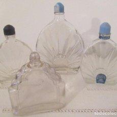 Coleccionismo Otros Botellas y Bebidas: CUATRO ANTIGUOS FRASCOS DE AGUA DE COLONIA/LAVANDA:. Lote 100060023