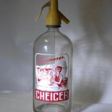Coleccionismo Otros Botellas y Bebidas: SIFÓN CHEICER FRABRICANTE MONGE SEVILLA // SERIGRAFÍA ANTIGUA DIFERENTE. Lote 100262975