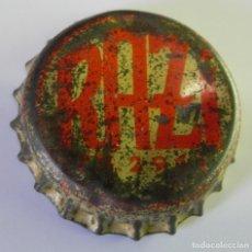 Coleccionismo Otros Botellas y Bebidas: CHAPA O TAPON CORONA DE REFRESCO RAZI. TRASERA DE CORCHO. LATILLA NUNCA ANUNCIADA NI VENDIDA AQUI. Lote 101243943