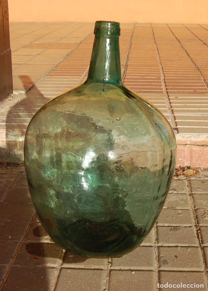 Coleccionismo Otros Botellas y Bebidas: DAMAJUANA GARRAFA DE CRISTAL 20 LITROS MARCA AYALENSE - Foto 3 - 102117307