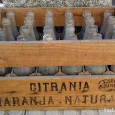 Coleccionismo Otros Botellas y Bebidas: CAJA DE MADERA DE CITRANIA - LIMON Y NARANJA NATURAL - J. SOLER MADERAS - NATAHOYO GIJON - BOTELLA. Lote 102278047