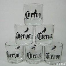 Coleccionismo Otros Botellas y Bebidas: VASOS TEQUILA CUERVO CHUPITOS BAJOS VASITOS GLASS MEXICO MEJICO COLLECTABLES COLECCIONABLES. Lote 102442439