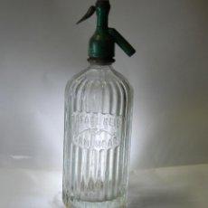 Coleccionismo Otros Botellas y Bebidas: SIFÓN RAFAEL REIG DE SAN LUCAR CON CABEZA DE PLOMO. Lote 103348587