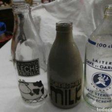 Coleccionismo Otros Botellas y Bebidas: LOTE BOTELLAS LECHE ANTIGUAS Y VINTAGE. Lote 104965542