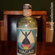 Coleccionismo Otros Botellas y Bebidas: ANTIGUA BOTELLA DE LEJIA NACAR NAVARRA CRISTAL . Lote 105118907