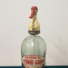 Coleccionismo Otros Botellas y Bebidas: SIFÓN ITURRI GORRITO ESPECIAL POR SU FORMA. Lote 106077306