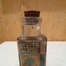 Coleccionismo Otros Botellas y Bebidas: ACEITE VAKEL.JORDA.SEVILLA. Lote 106614743