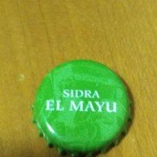 Coleccionismo Otros Botellas y Bebidas: CHAPA SIDRA EL MAYU. ABIERTA SIN DOBLAR. Lote 107046611