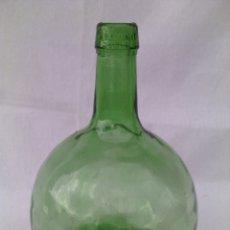 Coleccionismo Otros Botellas y Bebidas: ANTIGUA GARRAFA DAMAJUANA DE VIDRIO VERDE.V.LEVANTE. Lote 108365840