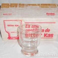 Coleccionismo Otros Botellas y Bebidas: CAJA CON 6 VASOS DE BITTER KAS. Lote 110054975