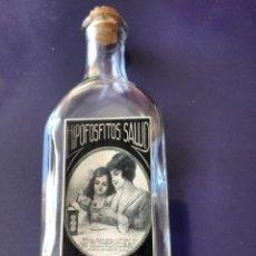 Coleccionismo Otros Botellas y Bebidas: BOTELLA PRINCIPIOS DEL SIGLO XX, HIPOFOSFITOS, TAPON DE CORCHO. MUY BIEN CONSERVADA. . Lote 110240431