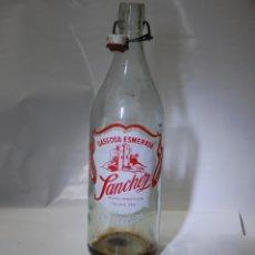 Coleccionismo Otros Botellas y Bebidas: BOTELLA DE GASEOSA SÁNCHEZ DE PONFERRADA. Lote 174013320