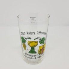 Coleccionismo Otros Botellas y Bebidas: VASO WEINDORF LEUTESDORF REHEIN GLASS VINO WINE WEIN ALEMANIA GERMAN VINTAGE ANTIGUO COLECCION. Lote 111505679