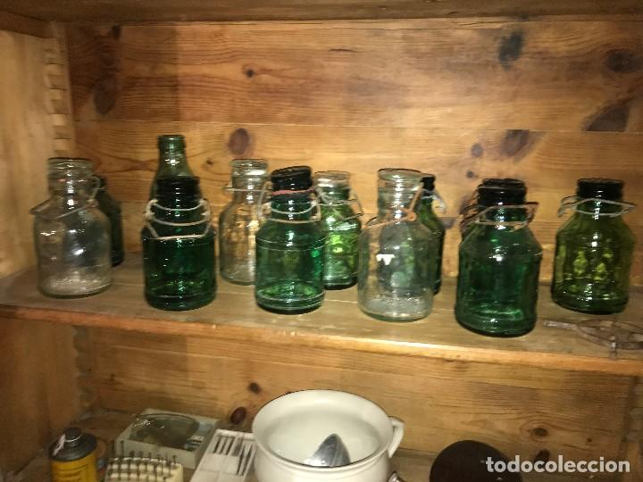 BOTELLAS CRISTAL LECHE CONDENSADA (Coleccionismo - Otras Botellas y Bebidas )