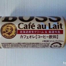 Coleccionismo Otros Botellas y Bebidas: CURIOSA LATA BOTE CAFE CON LECHE VACÍA JAPONESA BOSS CAFÈ AU LAIT. Lote 112531143