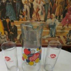 Coleccionismo Otros Botellas y Bebidas: GASEOSA LA CASERA JARRA + 2 VASOS. Lote 114688044