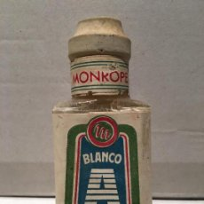 Coleccionismo Otros Botellas y Bebidas: ANTIGUO FRASCO DE TINTE MONROPE CON TAPON DE CORCHO AÑOS 50. Lote 221714096