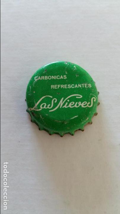 CHAPA BOTELLA CON LA PARTE DE ATRAS DE CORCHO. CARBONICAS LAS NIEVES (Coleccionismo - Otras Botellas y Bebidas )