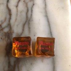 Coleccionismo Otros Botellas y Bebidas: ANTIGUOS HIELOS IMANTADOS DE PUBLICIDAD MAGNO CON HIELO (MUY RAROS). Lote 118090982