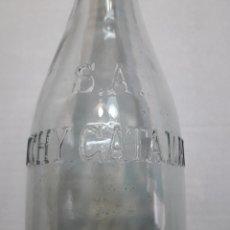 Coleccionismo Otros Botellas y Bebidas: BOTELLA ANTIGUA VICHY CATALÁN LETRAS EN RELIEVE. Lote 118707986