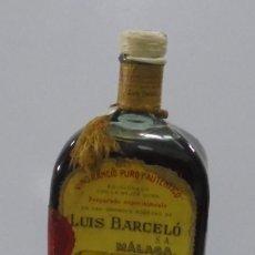 Coleccionismo Otros Botellas y Bebidas: BOTELLA. VINO RANCIO PURO Y AUTENTICO. LUIS BARCELO. MALAGA. GRAN VINO SANSON. CERRADA. Lote 118888103