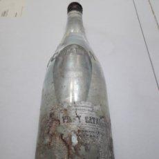 Coleccionismo Otros Botellas y Bebidas: BOTELLA ANTIGUA DE VICHY CATALÁN S.A LLENA. Lote 119552183