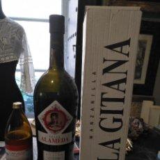 Coleccionismo Otros Botellas y Bebidas: 53 CM GRAN BOTELLA MAGNUM MAGNUM MANZANILLA SANLUCAR LA GITANA 4 LITROS CREAM ALAMEDA CAJA ORIGINAL . Lote 120796531