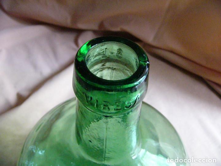 Coleccionismo Otros Botellas y Bebidas: Botella garrafa garrafon de cristal Viresa 8 Litros Damajuana - 36 centimetros - Foto 2 - 121141555