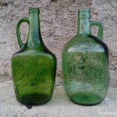 Coleccionismo Otros Botellas y Bebidas: LOTE DE DOS BOTELLAS DISTINTAS DE VIDRIO VERDE, . ANTIGUAS BOTELLAS DE ANÍS SIN ETIQUETA. 2 LITROS.. Lote 121181731