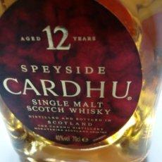 Coleccionismo Otros Botellas y Bebidas: CARDHU 12 AÑOS - 70CL. Lote 121449655
