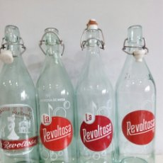 Coleccionismo Otros Botellas y Bebidas: LOTE DE GASEOSA LA REVOLTOSA 1L. ( TODAS DIFERENTES). Lote 121738174