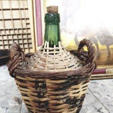 Coleccionismo Otros Botellas y Bebidas: DAMAJUANA DE CRISTAL VERDE - AYELENSE - GARRAFA - GARRAFÓN - FRASCA. Lote 122657112